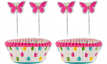 Butterfly Cupcake Combo Pack for 24