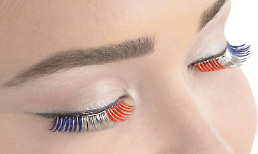 Self-Adhesive Patriotic Tinsel False Eyelashes