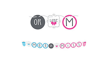 Little Man, Little Miss Gender Reveal Letter Banner
