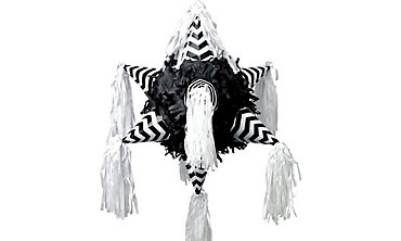 Black & White Chevron 8-Point Star Pinata