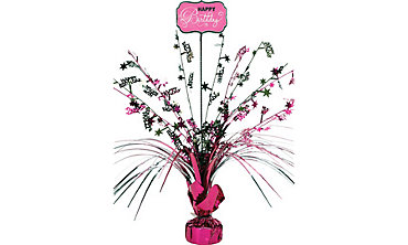 Black & Pink Birthday Spray Centerpiece