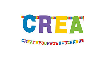 Rainbow Letter Banner Kit 84pc