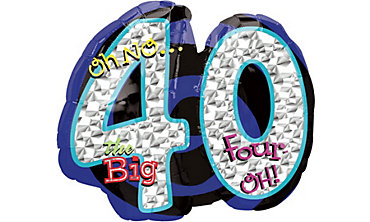 Foil Oh No the Big 40 Number Balloon 27in