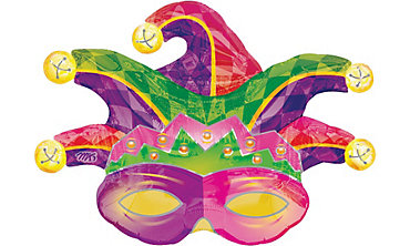Mardi Gras Mask Balloon 31in