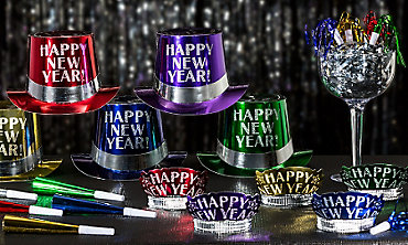 Colorful New Year's Eve Party Kits