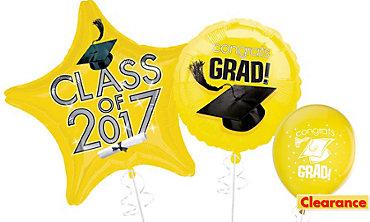 Yellow Graduation Balloons