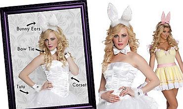Fluffy Bunny Mix & Match Women's Looks