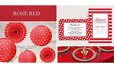 Red Wedding Supplies