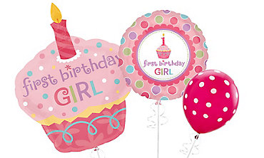 1st Birthday Girl Balloons