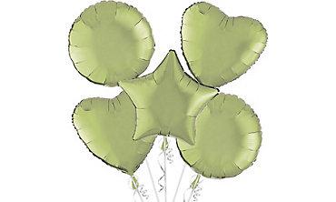 Leaf Green Balloons