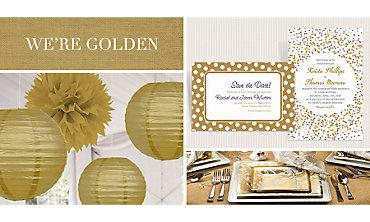 Gold Wedding Supplies