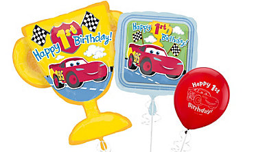 Cars 1st Birthday Balloons First