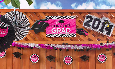 Zebra Graduation Decorations