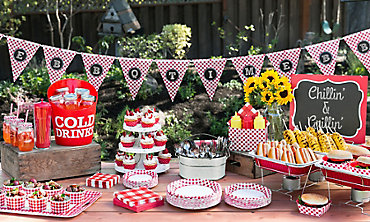 Gingham Picnic Party Theme