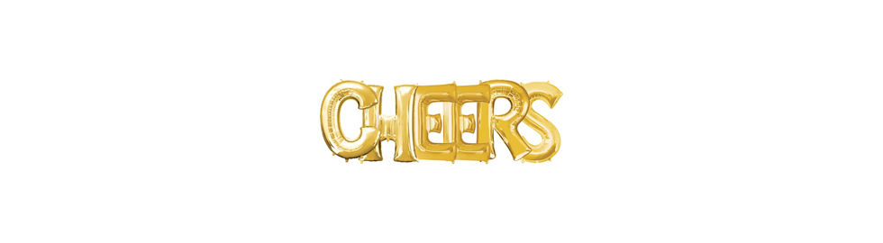 giant gold cheers letter balloon kit 6pc foil balloons