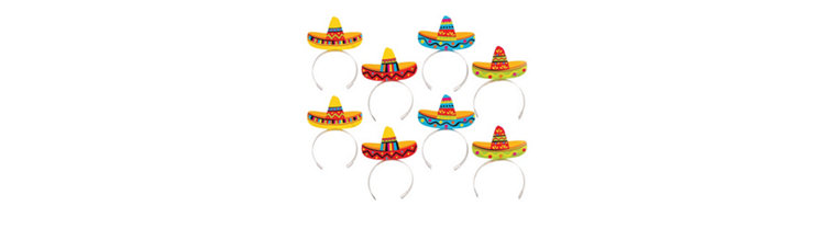 Sombrero Headbands 8ct