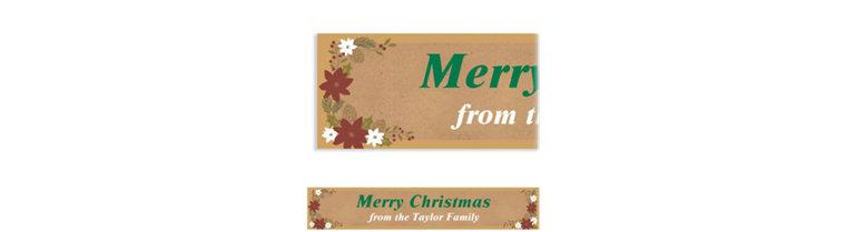 Custom Merry Little Christmas Banner
