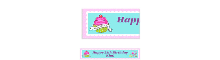 Custom Birthday Sweets Banner