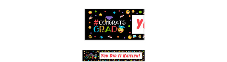 Custom Emoji Graduation Banner