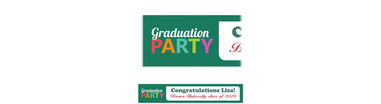 Custom Bright Grad Text Banner