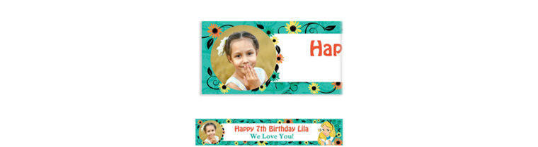 Custom Alice in Wonderland Photo Banner