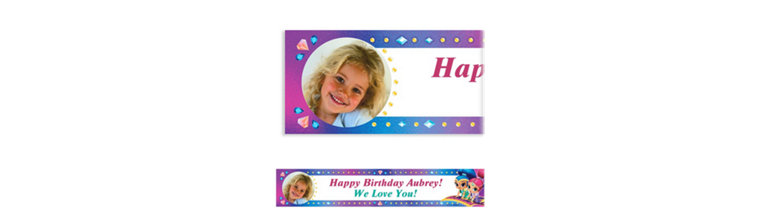 Custom Shimmer and Shine Photo Banner