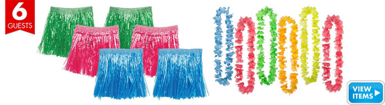 Kids Luau Party Pack for 6 Guests