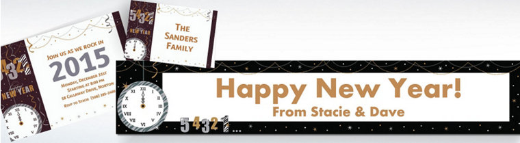 Custom New Year's Invitations & Thank You Notes
