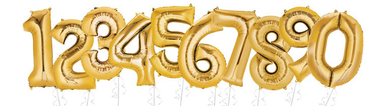 Giant Gold Number Balloons