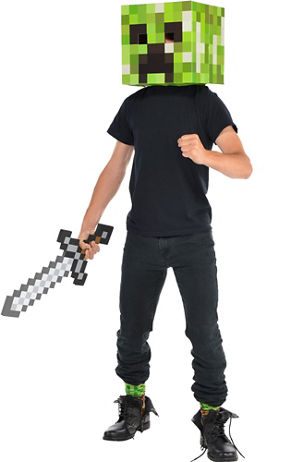 Minecraft Diamond Sword - Party CitySteve Minecraft Costume Party City