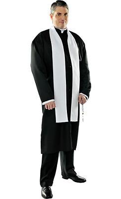 Adult Priest Costume Plus Size