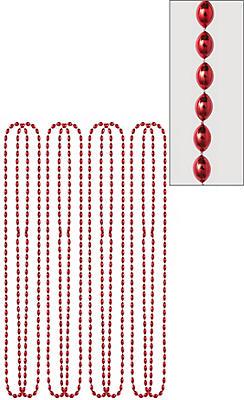 Metallic Red Bead Necklaces 8ct
