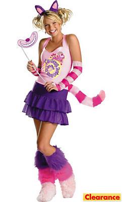 Girls Sassy Cheshire Cat Costume