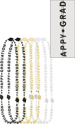 Metallic Happy Graduation Necklaces 6ct