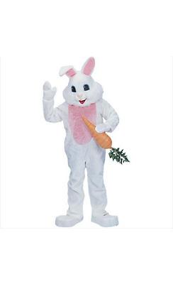 Adult White Mascot Bunny Costume Premium