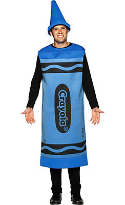 Adult Blue Crayola Crayon Costume