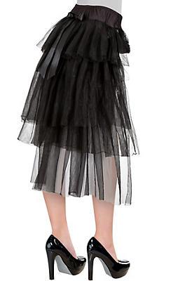 Long Tulle Bustle Skirt
