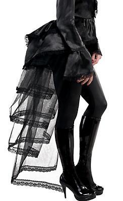 Goth Tie-On Black Bustle