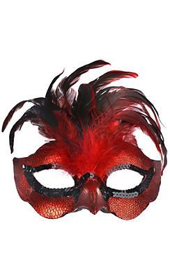 Fire Bird Feather Masquerade Mask