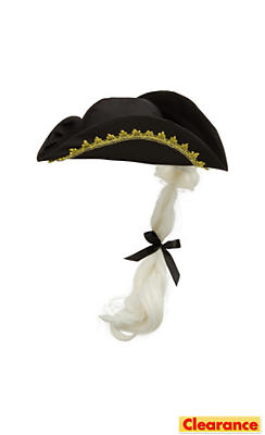 Child Tricorn Hat with Hair