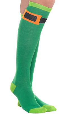 Leprechaun Knee-High Socks
