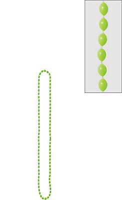 Black Light Neon Green Bead Necklace
