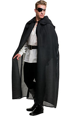 Black Burlap Hooded Cloak