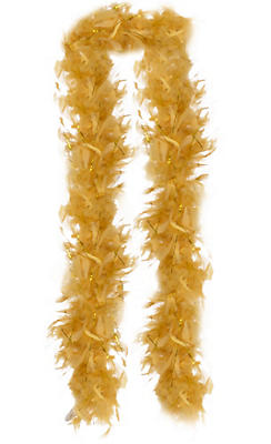 Gold Feather Boa
