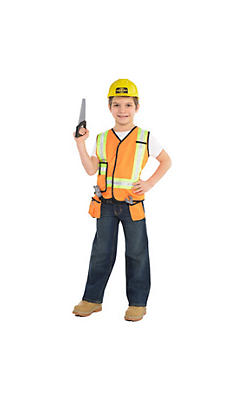 Child Construction Worker Accessory Kit 7pc