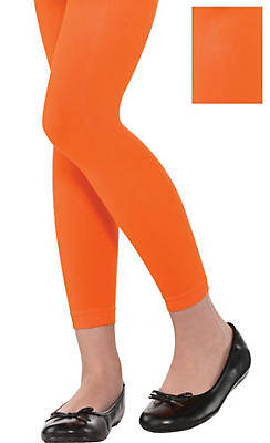 Child Orange Footless Tights