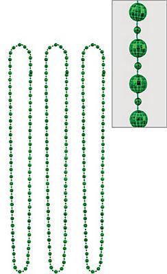 Green Disco Bead Necklaces 3ct