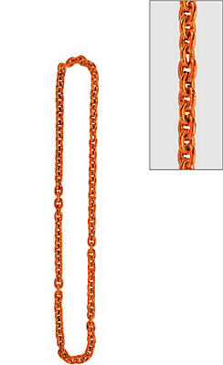 Orange Chain Link Necklace
