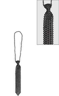 Black Tie Bead Necklace