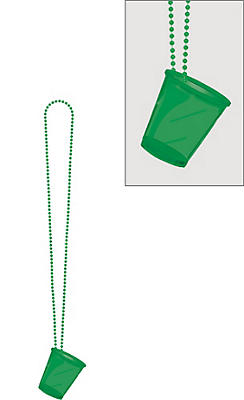 Green Shot Glass Bead Necklace